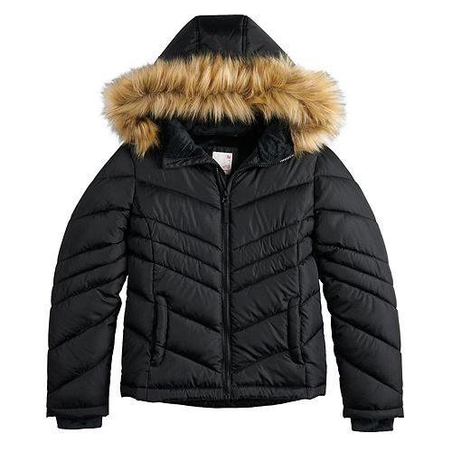 Girls 4-20 SO® Puffer Jacket