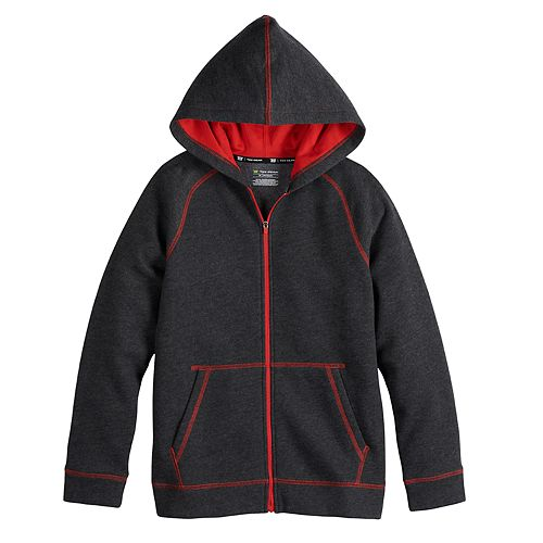 Boy's 8-20 Tek Gear® Ultrasoft Fleece Full-Zip Hoodie in Regular & Husky