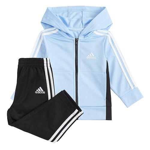 Toddler Boy adidas Hooded Jacket Tricot Set