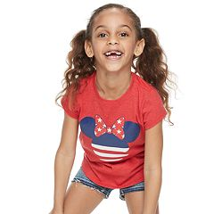 Disney's Minnie Mouse Girls 4-6x Americana Graphic Tee by Family Fun