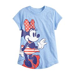 Disney's Minnie Mouse Girls 4-6x Stars & Stripes Graphic Tee by Family Fun