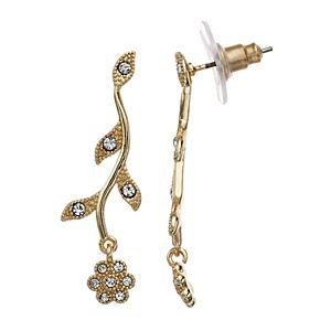 Womens LC Lauren Conrad Vine and Flower Drop Earrings