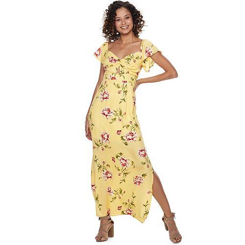 8b7c32fa297 Juniors  Trixxi Floral Cutout-Keyhole Maxi Dress