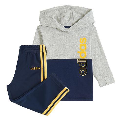 Toddler Boy adidas Cotton Hoodie & Pants Set