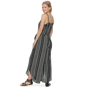 Juniors' American Rag Striped Wide-Leg Jumpsuit