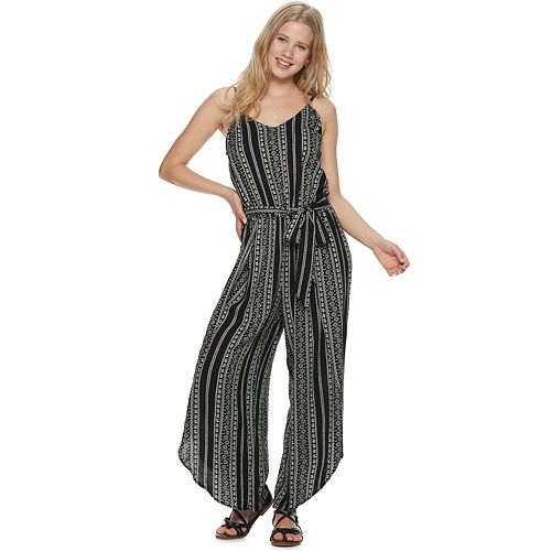 Juniors' American Rag Striped Wide-Leg Jumpsuit