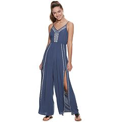 Juniors' American Rag Embroidered Tank Jumpsuit