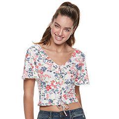 Juniors' American Rag Lace Up Crop Top
