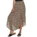 Juniors' Joe B Smocked Waist Woven Maxi Skirt
