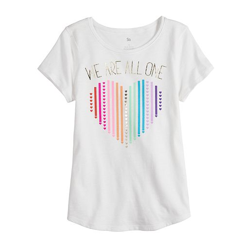 Girls 7-16 SO® Adaptive Graphic Tee