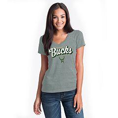 Women's Milwaukee Bucks V-Neck Tee