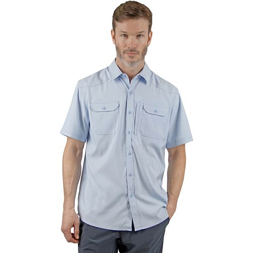 Men's Mountain and Isles Sun Protection Performance Short-Sleeve Button-Down Shirt