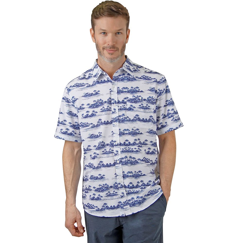 Men's Mountain and Isles Sun Protection Performance Button-Down Short-Sleeve Shirt