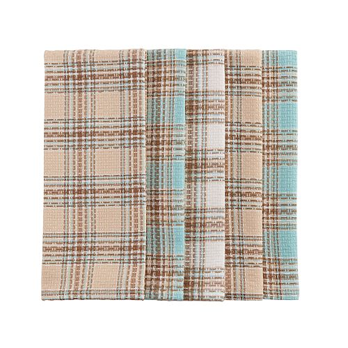 The Big One® Waffle Plaid Kitchen Towel 5-pk.