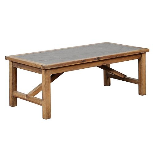 Linon Carly Rustic Coffee Table
