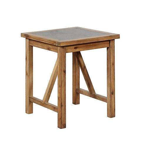 Linon Carly Rustic End Table