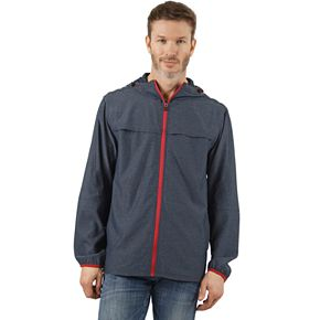 Men's Mountain and Isles Stretch Lightweight Packable Hooded Rain Jacket