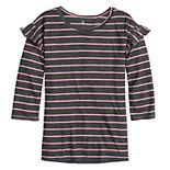 Girls 6-16 SO® Adaptive Double Layer Tee