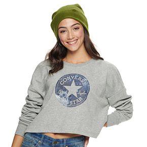 Juniors' Converse Chuck Taylor Logo Crew Sweatshirt
