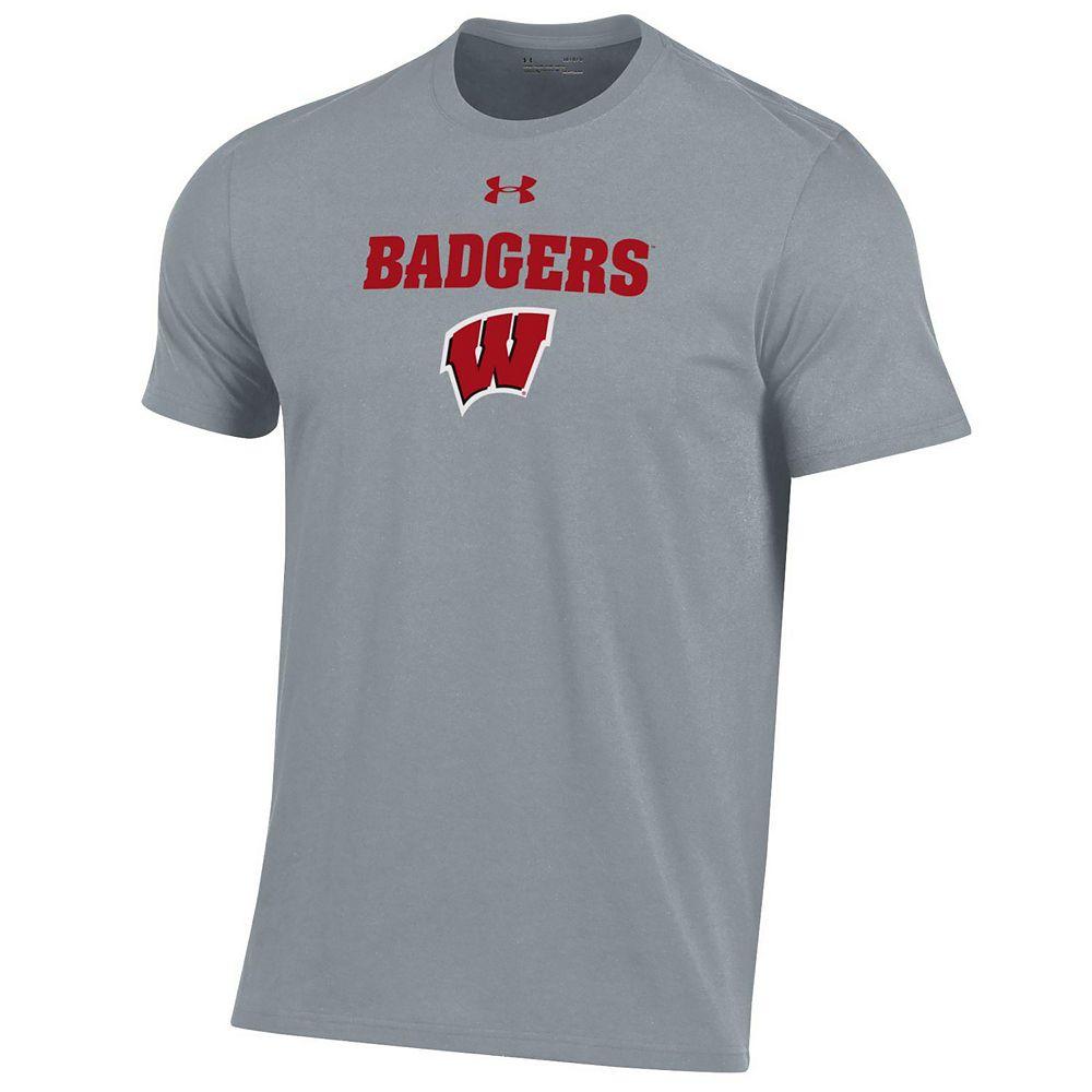 Men's Under Armour Wisconsin Badgers Logo Performance Tee
