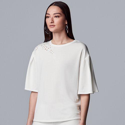Women's Simply Vera Vera Wang Eyelet Sweatshirt