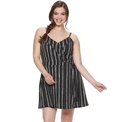 80afb5e359b Juniors  Plus Size Candie s® Wrap Romper Dress