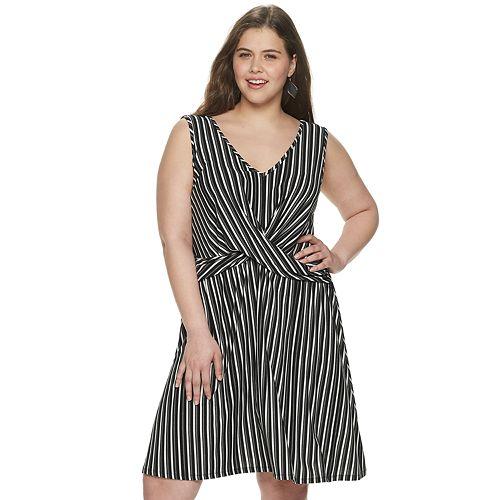 Juniors' Plus SIze Candie's® Twist Front Knit Dress
