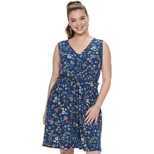 Juniors' Plus Candie's® Crossover Knit Dress