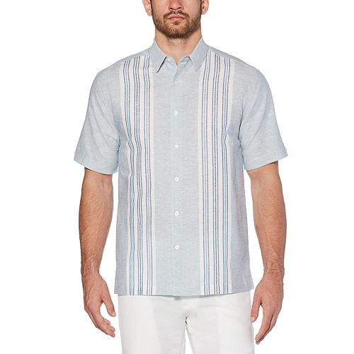 Men's Cubavera Classic-Fit Gray Panel Button-Down Shirt