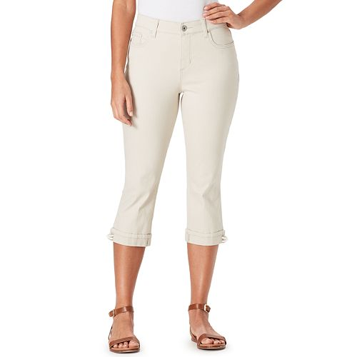 Women's Bandolino Mandie Lace-Up Capri Jeans