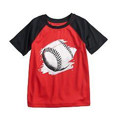 Boys 4-12 Jumping Beans® Hi-Low Baseball Raglan Tee