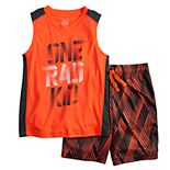"Boys 4-12 Jumping Beans® ""One Rad Kid"" Muscle Tee & Shorts Set"
