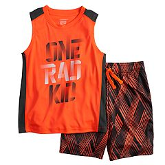 Boys 4-12 Jumping Beans® 'One Rad Kid' Muscle Tee & Shorts Set