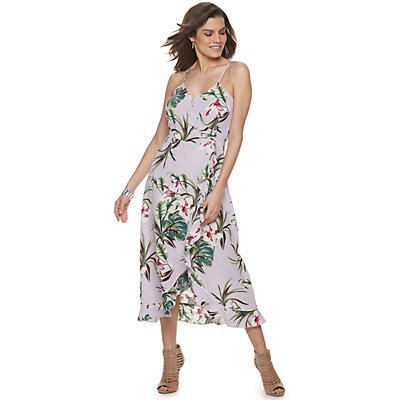 Women's Jennifer Lopez Flounce Faux-Wrap Dress