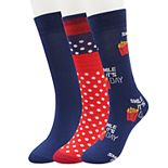 Mens SONOMA Goods for Life? 3-pack Food Novelty Crew Socks