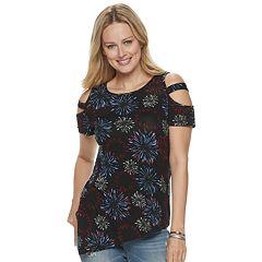 5fdae32e5337 Women s Rock   Republic® Asymmetrical-Hem Cold-Shoulder Top