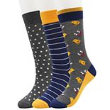 Men's SONOMA Goods for Life? 3-pack Novelty Crew Socks