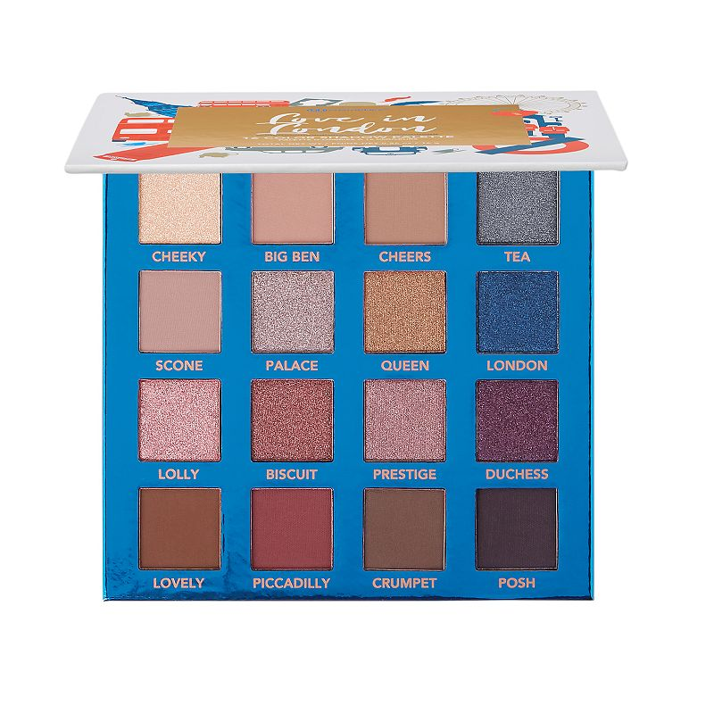 BH Cosmetics Love in London 16 Color Shadow Palette This BH Cosmetics palette features creamy blendable mattes and smooth high shine shimmers. Cruelty-free, vegan friendly & gluten free 5.5 oz HOW TO USE Apply with brush or finger Size: One Size. Color: Multicolor. Gender: female. Age Group: adult.