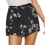 Juniors' Candie's® Belted Petal Shorts
