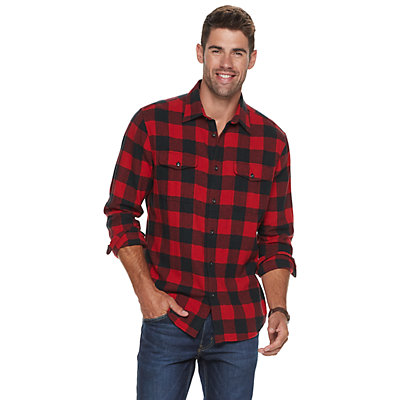 Men's SONOMA Goods for Life? Super Soft Flannel Button-Down Shirt