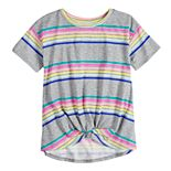 Girls 6-16 & Plus Size SO® Knot Front Tee