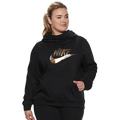 Plus Size Nike Fleece Funnel-Neck Hoodie