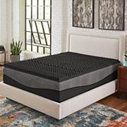 Comfort Escape 5-Zone Ebonite Memory Foam Mattress Topper