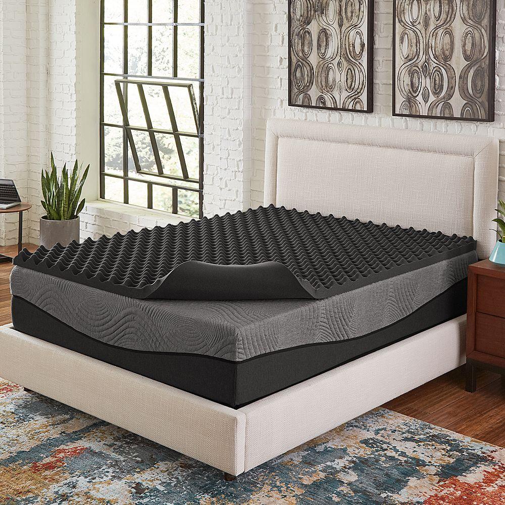 Comfort Escape 2 Big Bump Ebonite Memory Foam Mattress Topper