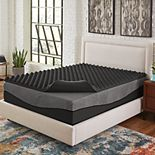 Comfort Escape 2 Big Bump Ebonite Memory Foam Mattress Topper