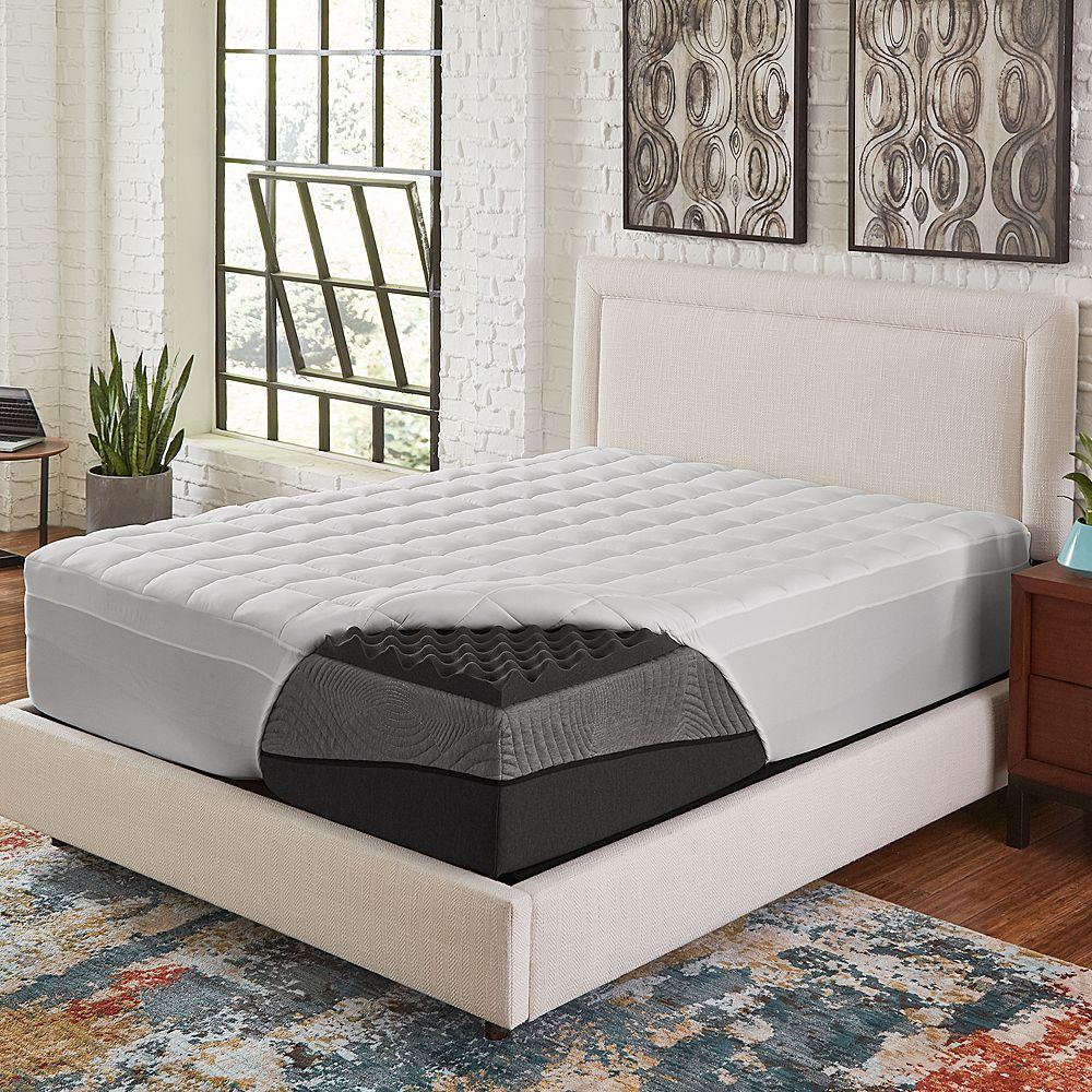 Comfort Escape 4 Ebonite Memory Foam & Fiber Mattress Topper