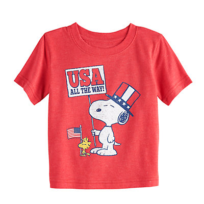 "Baby Boy Jumping Beans® Peanuts Snoopy ""USA"" Graphic Tee"