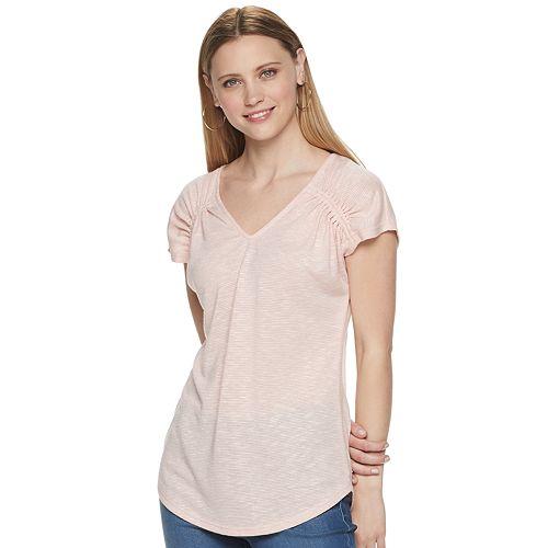 Women's Juicy Couture Shirred Shoulder Top