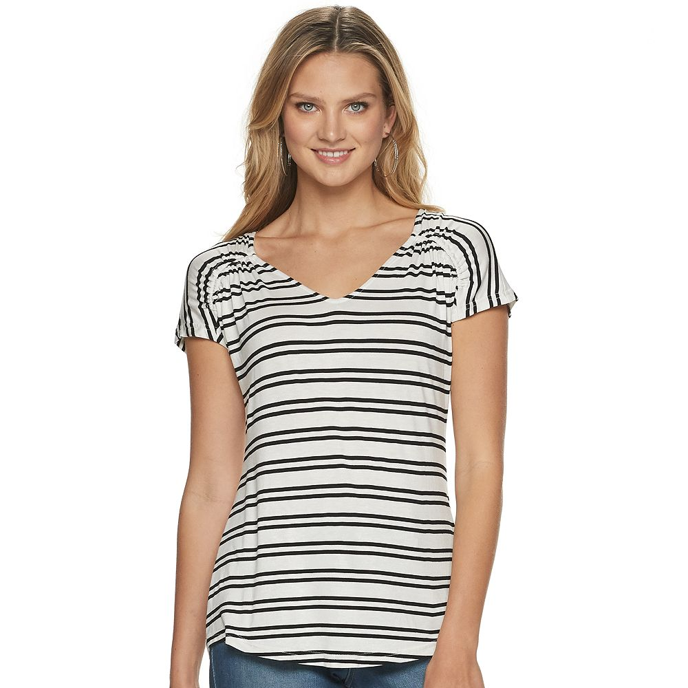 Women's Juicy Couture Printed Shirred Shoulder Top