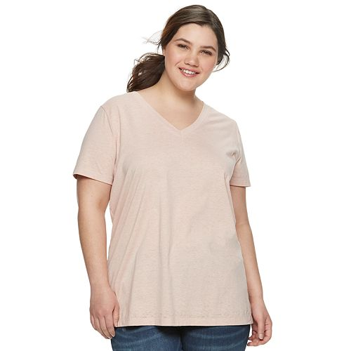 Juniors' Plus Size Mudd® Burnout Tee
